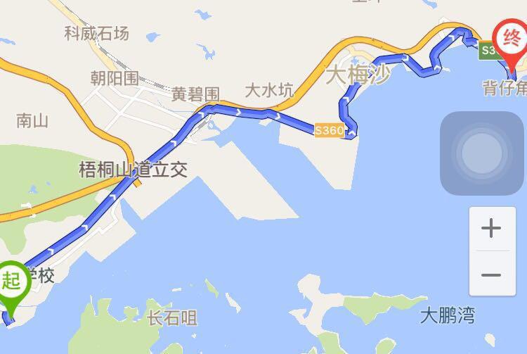 行走深圳盐田海滨栈道