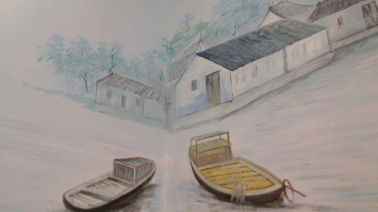 办公区域前台手绘图